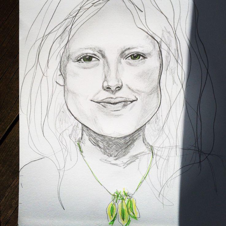 #drawing #portrait #girl #Kjerstidirdal