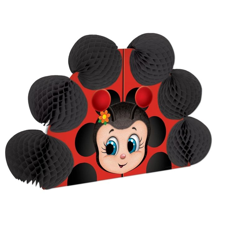 Club Pack of 12 Cute Ladybug Pop-Over Tissue Centerpiece Party Decorations 10, Black