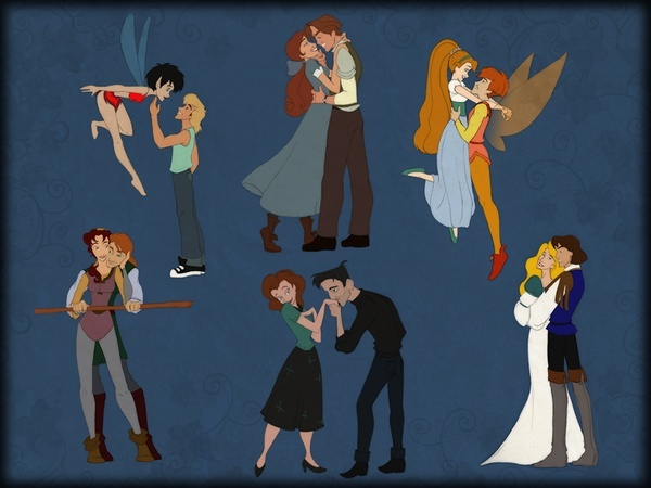 Crysta and Zak: Fern Gully; Odette and Derek: The Swan Princess; Thumbelina and Cornelius: Thumbelina; Kayley and Garrett: Quest for Camelot; Anastasia and Dimitri: Anastasia; Annie and Dean: The Iron Giant. *squeak!* :D