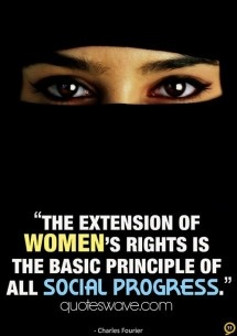 The extension of women's rights is the basic