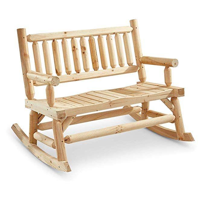 Castlecreek 2 Seat Wooden Rocking Bench 119 99 Free Shipping Diy Patio Furniture Wood Bench Outdoor Patio Furniture Layout