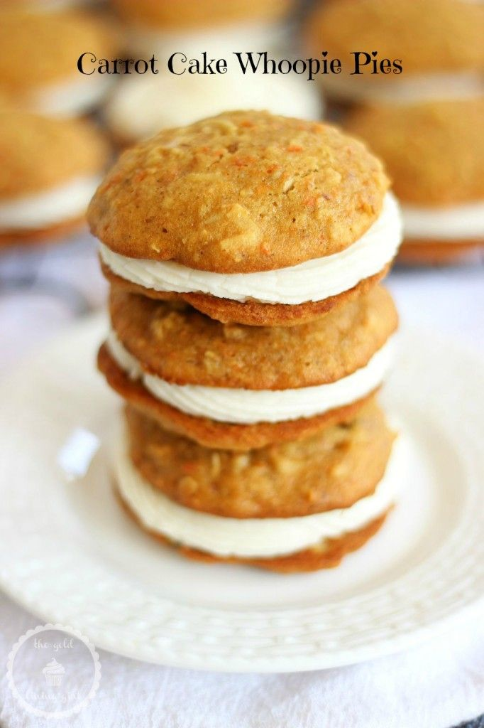 CARROT CAKE WHOOPIE PIES WITH RUM CREAM CHEESE FROSTING!