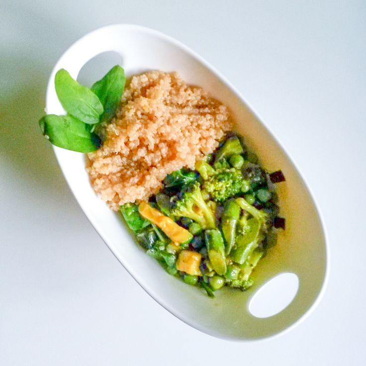 Spring inspired veggie-quinoa bowl