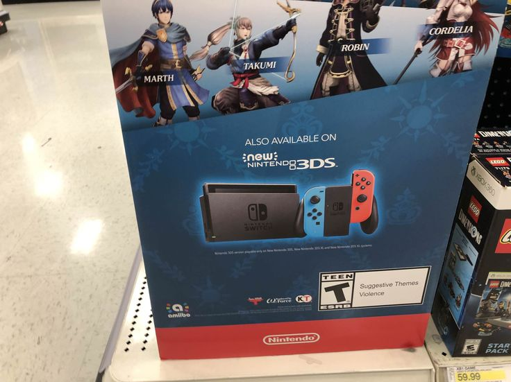 When target advertises the Switch as a 3DS