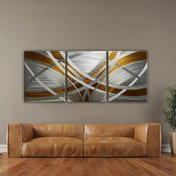 Fantastic Modern Metal Wall Art Modern Wall Sculpture Gold Abstract Interior Design Ideas Clesiryabchikinfo