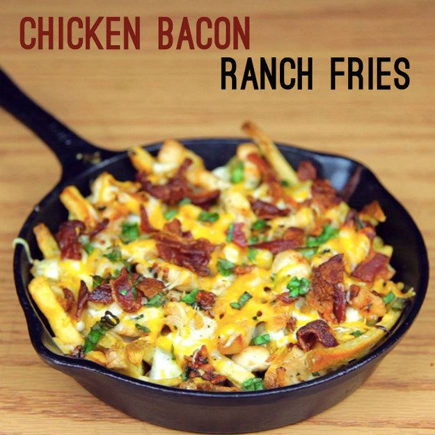 Chicken Bacon Ranch Fries