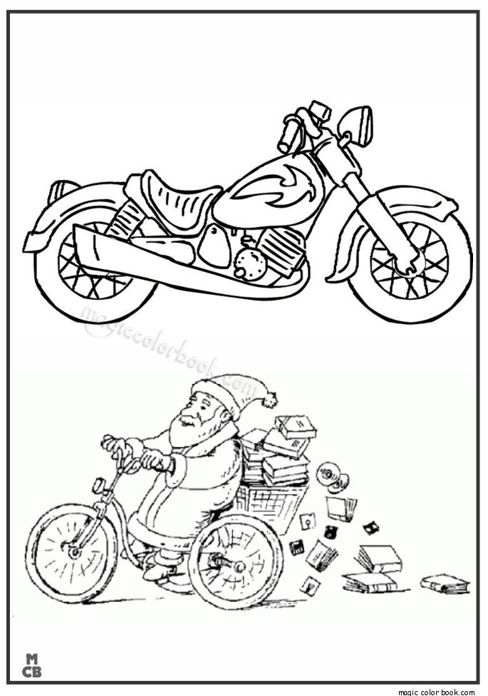 18 best Motorcycle Coloring pages free images on Pinterest - copy free coloring pages christmas lights