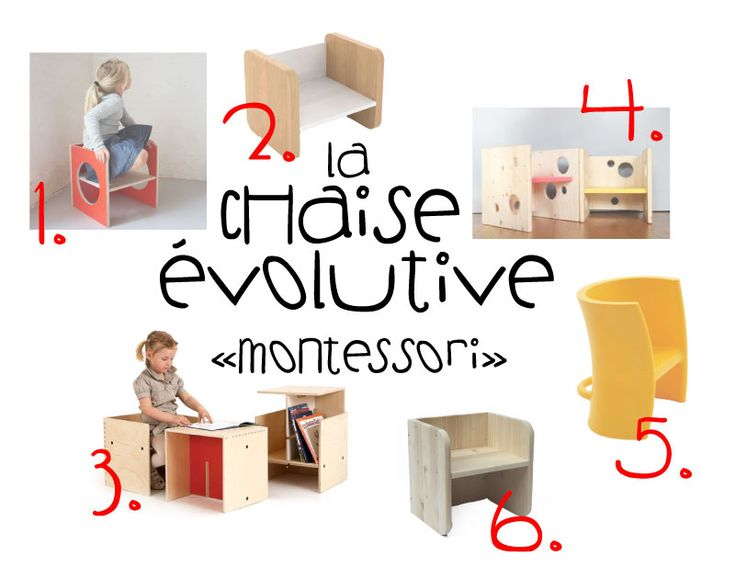 La chaise volutive montessori a mettre disposition de - Evolution de la chaise ...