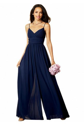Alfred Angelo 7301 Bridesmaid Dress | Weddington Way  jumpsuit- cool idea but I bet bathroom breaks could be interesting