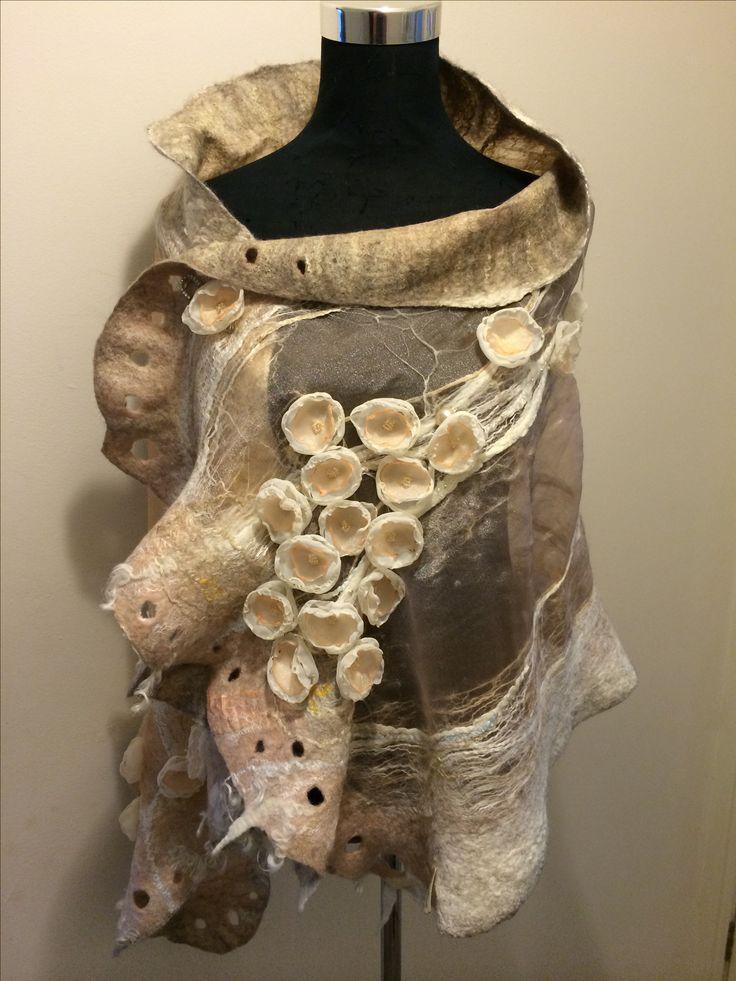 Felted Wedding scarf by Nadin Smo design. www.nadinsmo.com