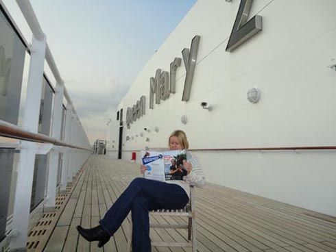 Joan Riding-Smith on the Queen Mary 2
