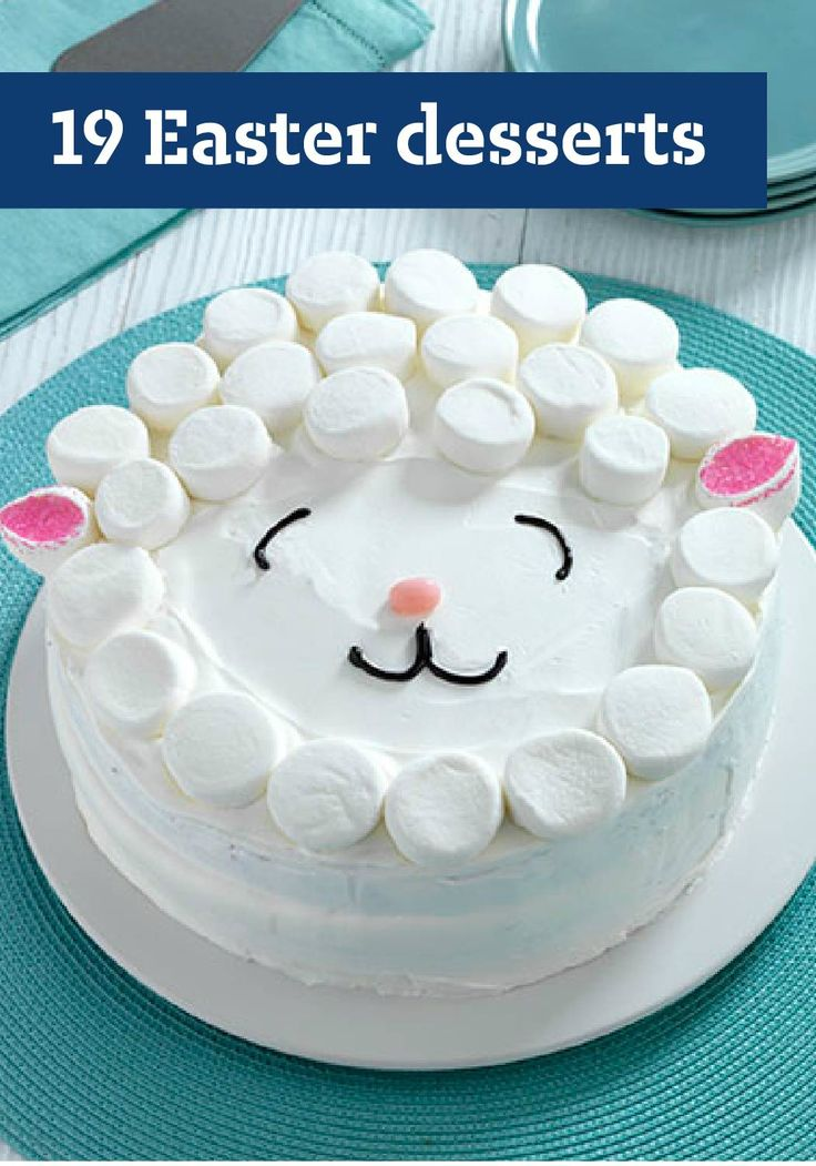 19 Easter Desserts – Sure, the kids can dig into their Easter baskets after Easter dinner, but what about the grown-ups? For them, proper Easter desserts—like this Easy Lamb Cake—are a must! But these treats will please the little bunnies in the family too.