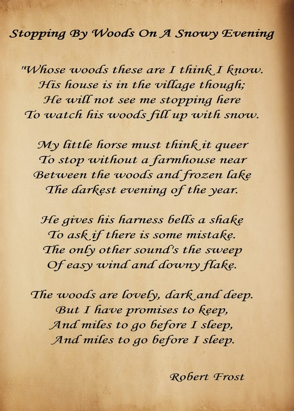 Robert Frost is one of my favorite Poets!
