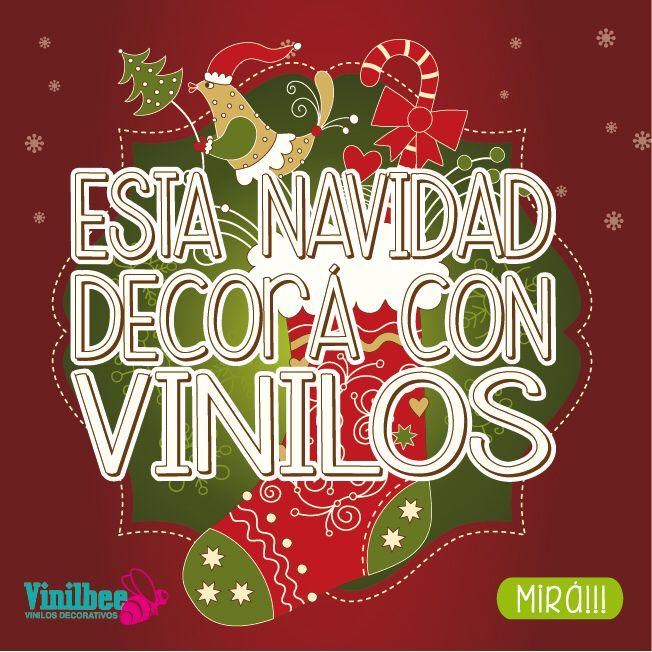 Esta Navidad decora con vinilos!! Mira. Vinilbee.com.ar/vinilos-comerciales/