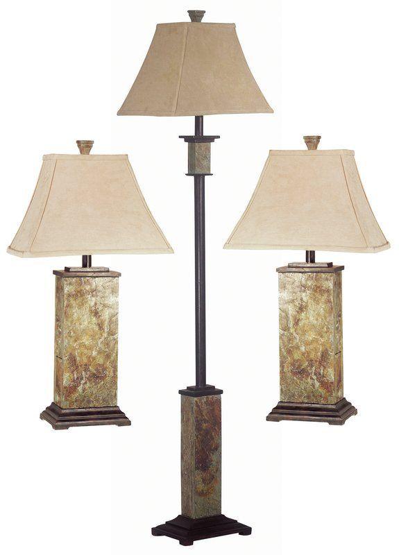 Gallipolis 3 Piece Table And Floor Lamp Set In 2018 Floor Lamps