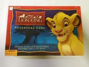 DISNEY-039-S-THE-LION-KING-ADVENTURE-BOARD-GAME-100-COMPLETE-RARE-SIMBA-NALA-MUFASA