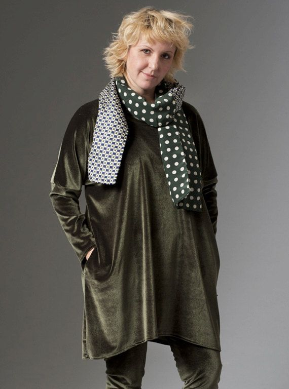 Long chenille blouse