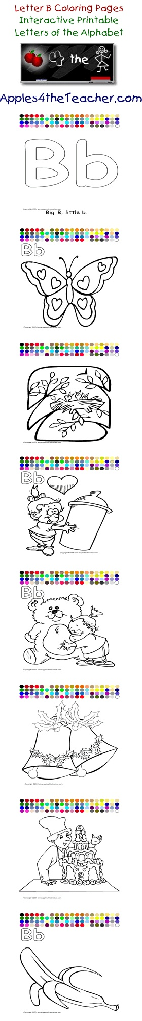 Apples4theteacher Coloring Pages : Apples theteacher printable interactive letters of the