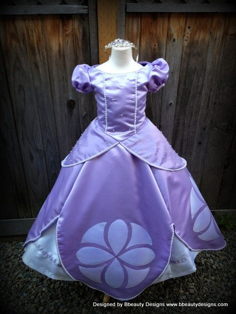 Sofia the First Princess Dress Gown Adult or Child by Bbeauty79, $375.00. Wish I could afford but I have to get 2!