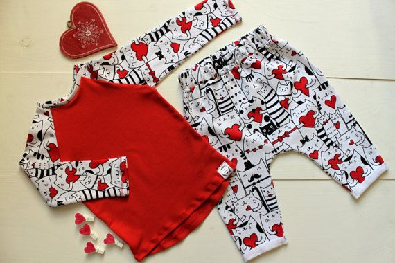 Handmade Kids Baby Boys Girls Outfit Set Clothes Top & Harem