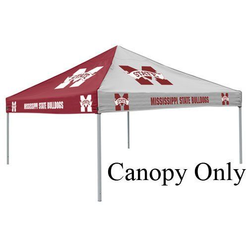 Logo Chair Mississippi State Bulldogs NCAA Pinwheel Canopy LCC-177-45 by Logo. $128.92. Brand New. Large 9' x 9' area two-color canopy tent with school logos on all four sides (does not include tent frame). School?s two primary color alternate on each side of canopy. Durable water resistant canopy made of 200 denier polyester with school logos on all f