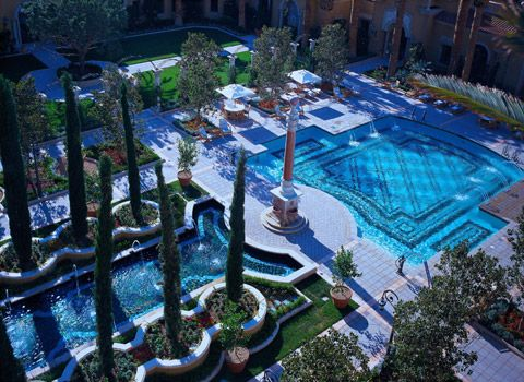 The mansion at mgm grand outdoor pool mansions pinterest gardens Indoor swimming pool las vegas