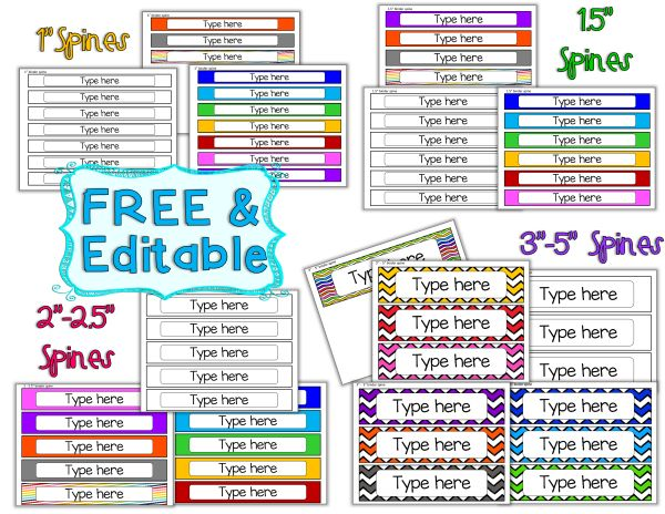 Best 25+ Binder spine labels ideas on Pinterest | Classroom labels ...