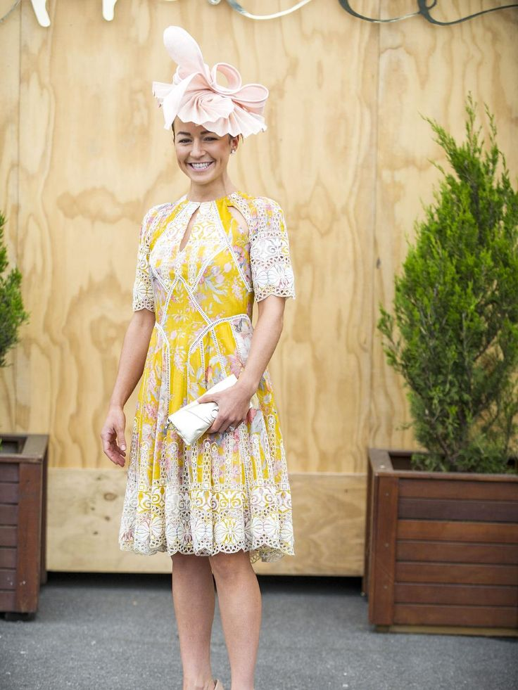 Fashion and fun at Caulfield Rebecca Sargent. Picture: Eugene Hyland