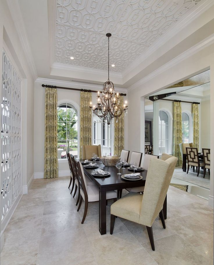 Custom #diningroom #design by The Naples Architect | Weber Design Group