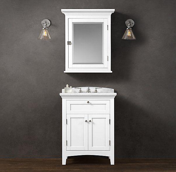 Cartwright powder room vanity sink rh top options for Powder room vanity sink cabinets