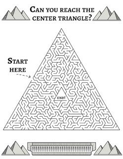 Solve This Pyramid Maze Ancient Egypt For Kids Egypt Lessons