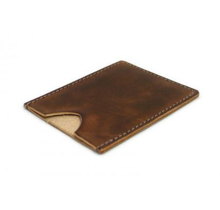 Brown Leather Minimalist Wallet   #card holder #leather wallet #small wallet