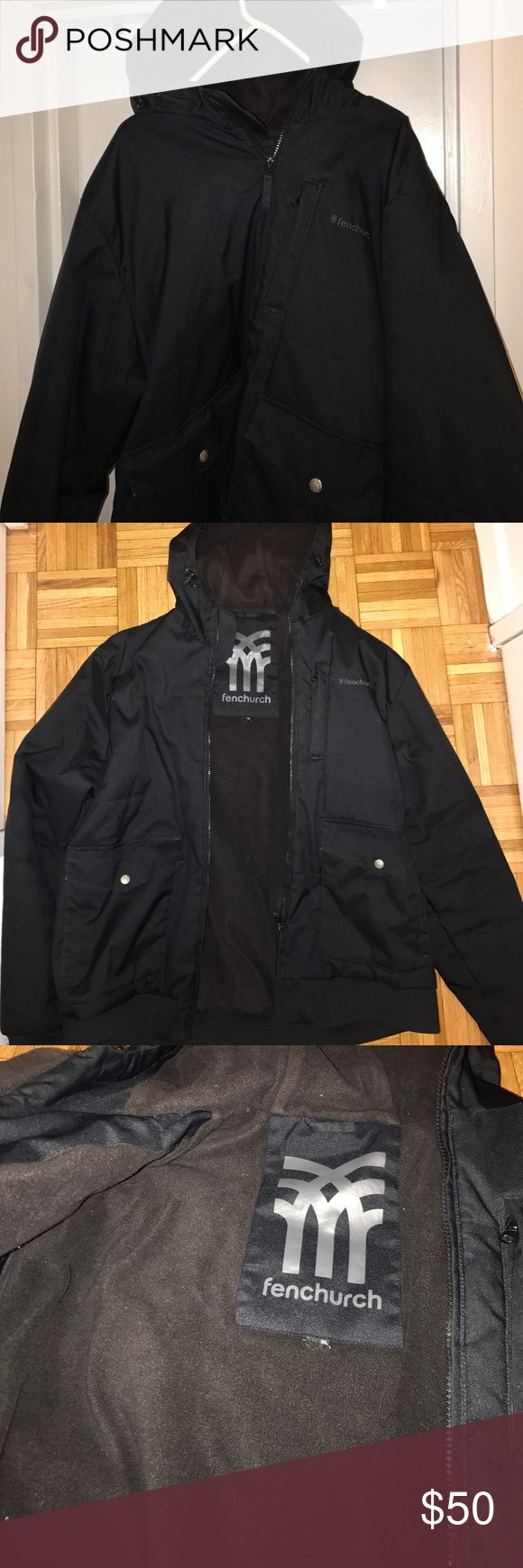 Sale Fenchurch Men Parka Coat Hooded Lined Size XL Fleece lined, super WARM, worn a handful of times for snowboarding. fenchurch Jackets & Coats Ski & Snowboard