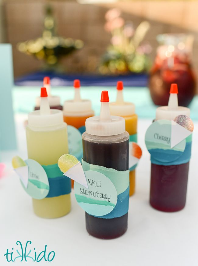 How to make delicious snow cone syrup out of pure fruit, no artificial colors, flavors, or excessive sugar.