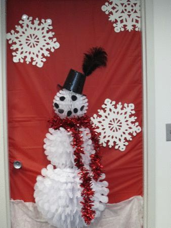 How To: Snowman Door Decorations