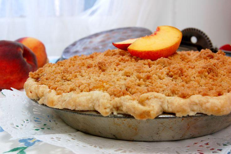 Peach crumb pie | Sweet | Pinterest