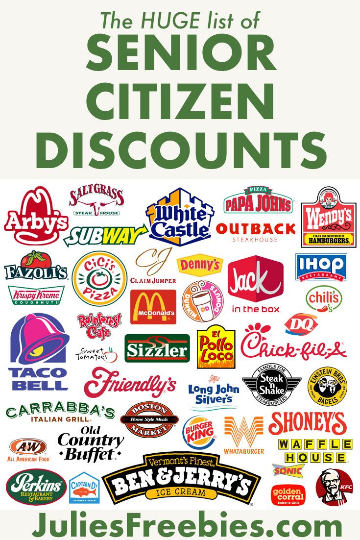 Huge List Of Senior Citizen Discounts Senior Citizen Discounts