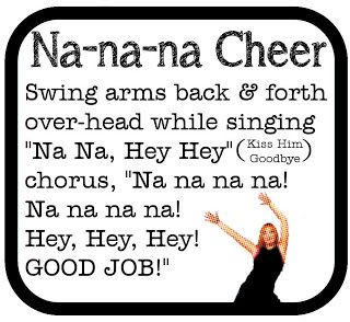 Routine: This whole website offers great classroom cheers, especially the na-na-na cheer. This is a cheer that is unique to the classroom community. I would have students and myself sing this cheer every time after someone offered something extraordinary to the lesson. I would have a bell and every time I rang it, students would be in the routine of singing this song together. It is a great way to build community and show students that their amazing contributions are valued in the classroom.