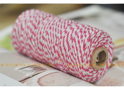 Hot Pink Twine Roll. Baker's Twine is the ultimate secret ingredient for your creative project! It's gorgeous for gift wrapping, dessert table accessories, crafts projects, wedding favors, product packaging and many more. Visit us at www.wigglegiggle.com