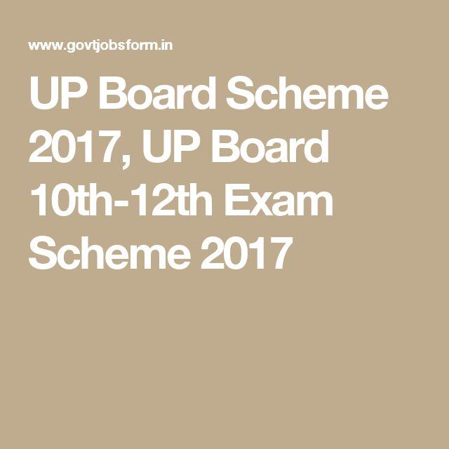 UP Board Scheme 2017, UP Board 10th-12th Exam Scheme 2017