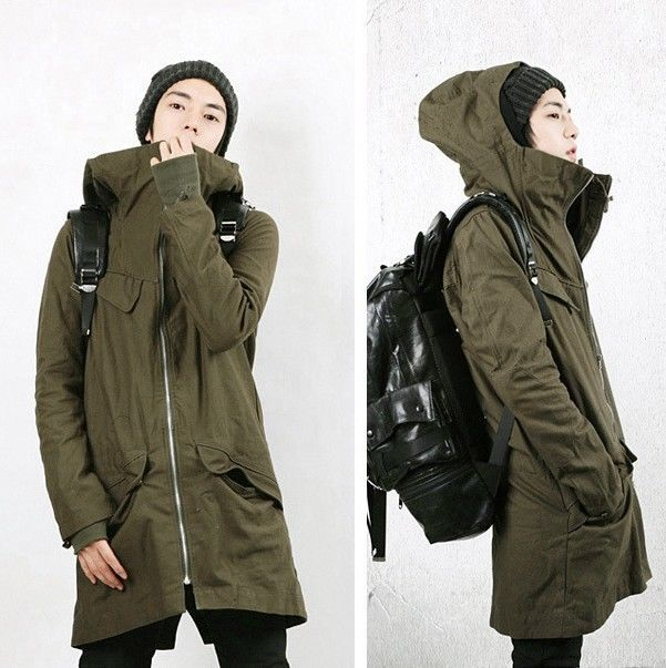New Korean Men's Cotton Hooded Two-Piece Coat Thicken Long Jacket Casual Parka #Unbranded #Parka