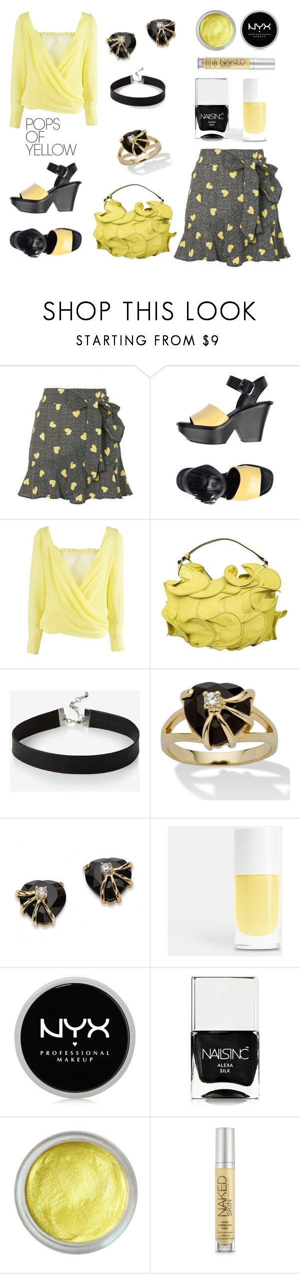 Untitled #972 by siriusfun on Polyvore featuring Versace, Topshop, Marni, Valentino, Palm Beach Jewelry, Express, Urban Decay, Forever 21, NYX and Nails Inc.