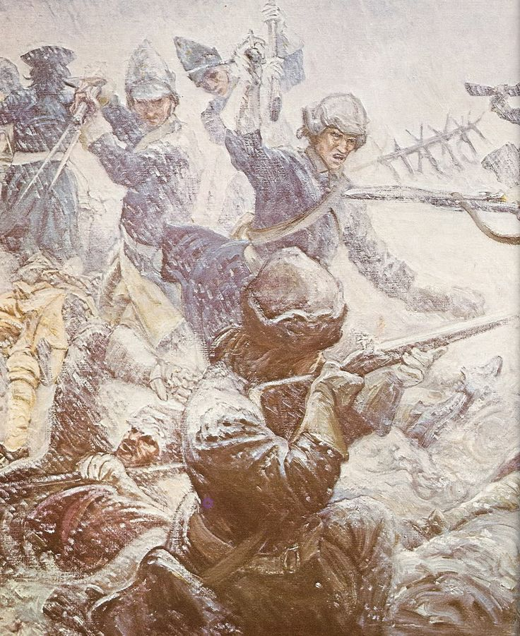 Swedish infantry in combat against Russian soldiers, Battle of Poltava