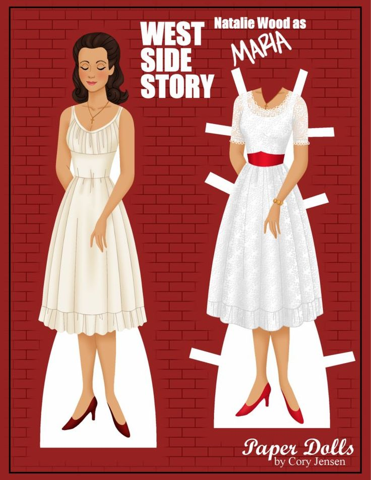 maria (west side story)   paper dolls by cory