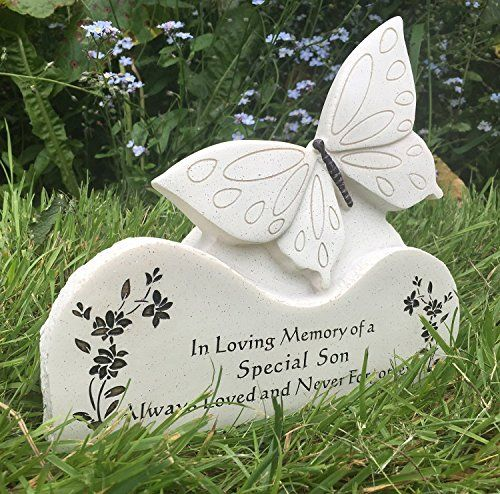 Special Son Butterfly On A Rock Memorial Grave Plaque With Sentiment ** Locate the offer simply by clicking the image