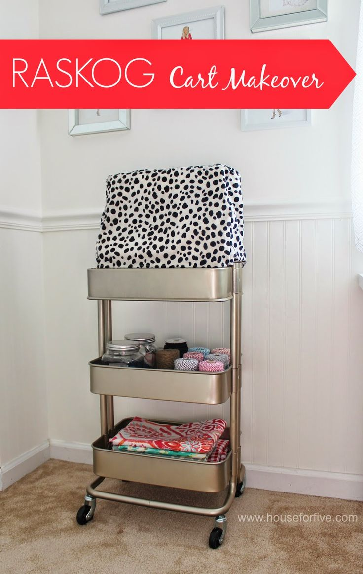 IKEA HACK: Just a little gold spray paint for this RASKOG cart makeover.