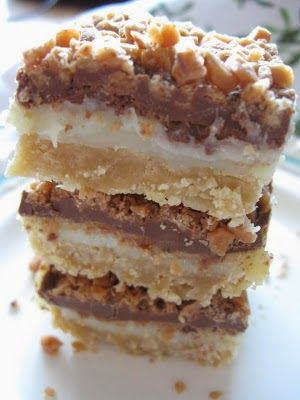 Toffee Chocolate Bars - One of the best desserts ever!! they are simply amazing and so easy to make!..