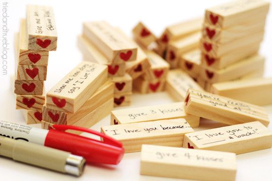 Personalized Jenga  - Valentine's Day Gifts For Him - Photos
