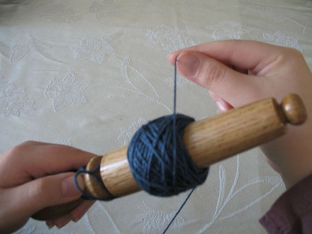 How to use a Nostepinne to wind a center pull ball of yarn.  These Nostepinnes are much prettier than a paper towel cardboard tube!!