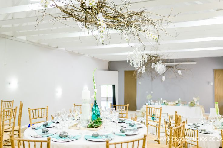 Teal Turquoise Inspiration beach wedding decor, luxury south african beach wedding, palm berries   http://www.absoluteperfection.co.za/#!CHANTELLE-AND-RJS-ROMANTIC-INTIMATE-BEACH-WEDDING/c1jar/57ad8b610cf2d58e4d0423e6